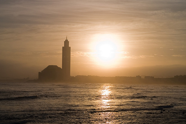Sunrise over Casablanca. Photo by