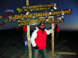 The summit of Mt Kilimanjaro!
