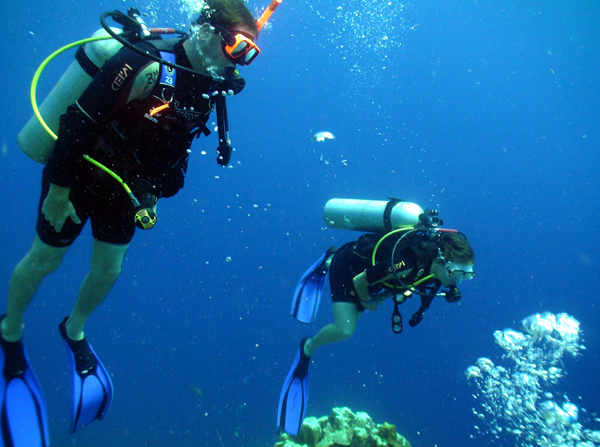 Diving in Curacao where I lost my ring.