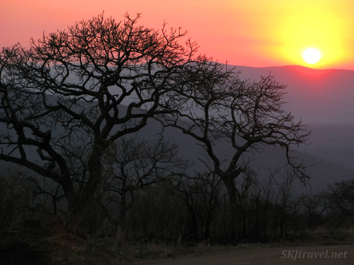 Sunset in Hluhluwe-iMfoloziNational Park.