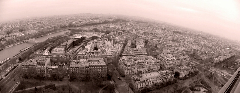 The view over Paris.