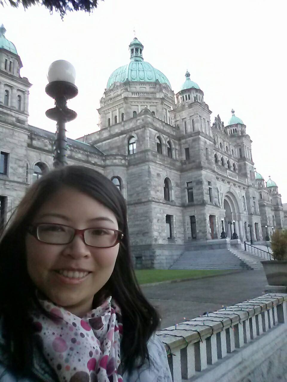 Adelina Wong from Pack Me To! Parliament building in British Columbia, Canada.
