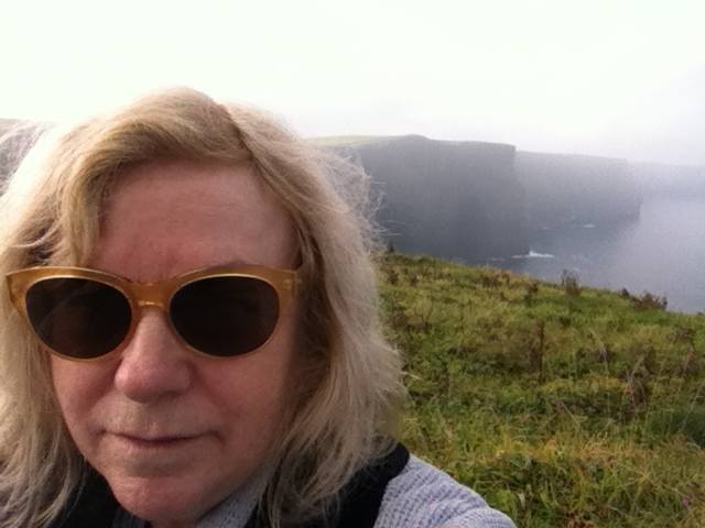 Carole Meyers of Travel with Carole.  Cliffs of Moher, Ireland.