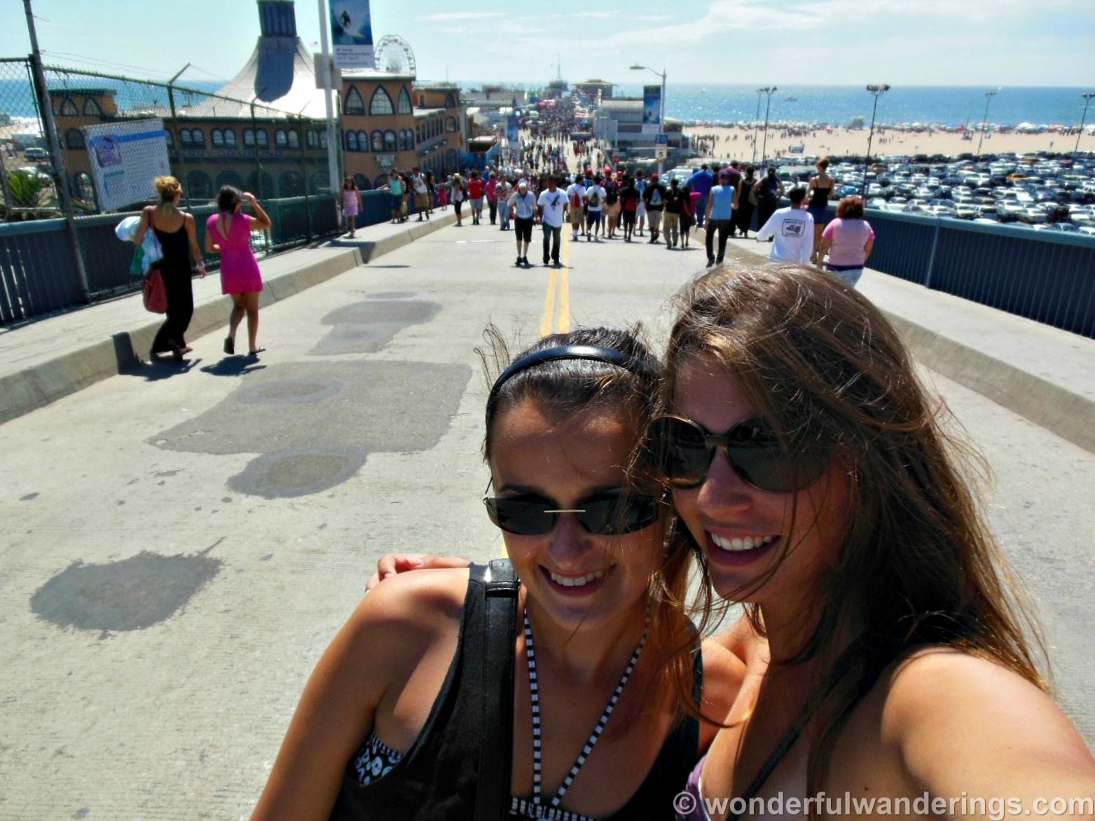 Sofie from Wonderful Wanderings. Santa Monica Pier, California.