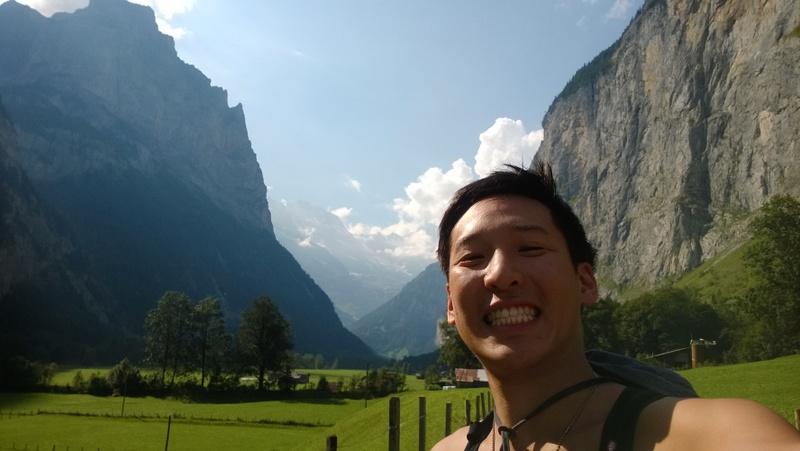 Eugene from Traverse In Converse. Lauterbrunnen, Switzerland.