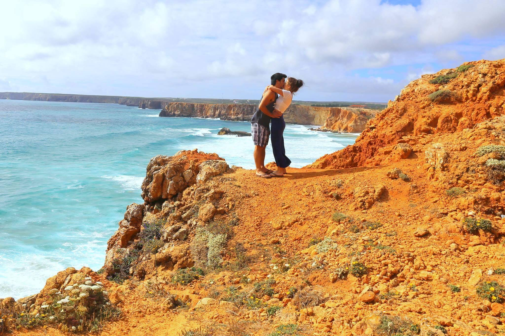 Anna and Nick in Sagres, Portugal