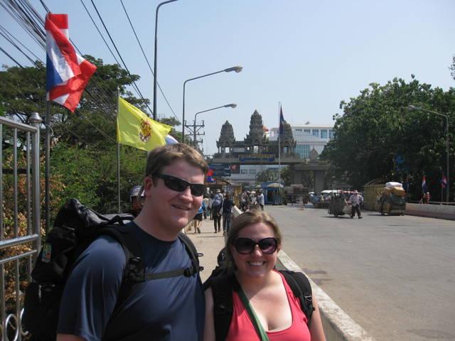 Crossing the Border into Cambodia.