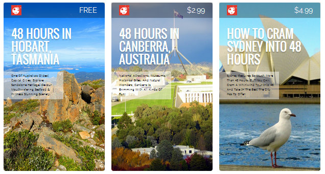My digital travel guides.