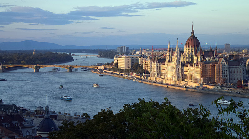 View over Budapest from the Danube. Photo CC by Nicolas Vollmer.