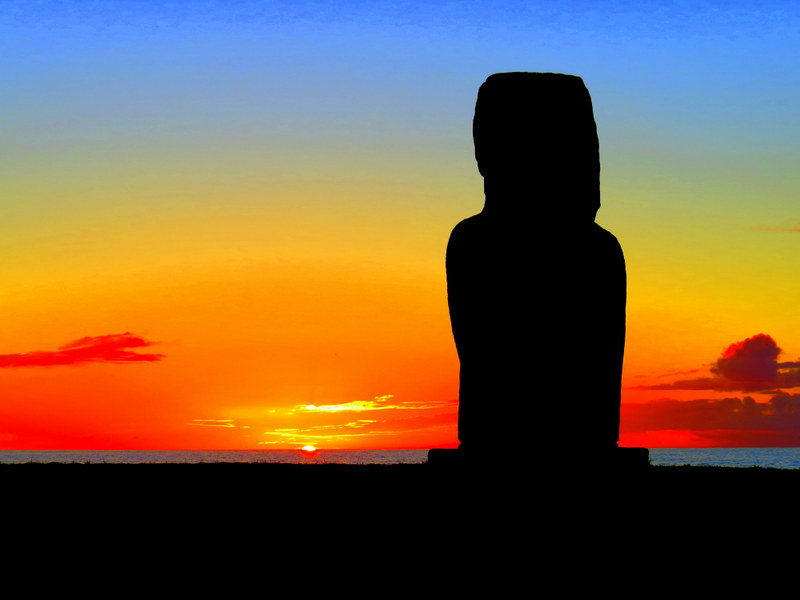 Photo: A Stunning Easter Island Sunset
