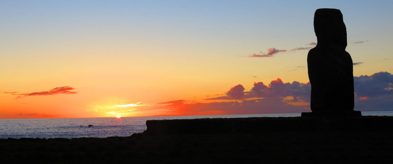 Easter Island sunsets were stunning.