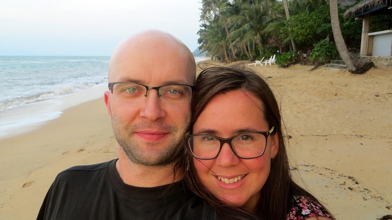 Christmas Eve on Bang Por Beach, Koh Samui, Thailand.