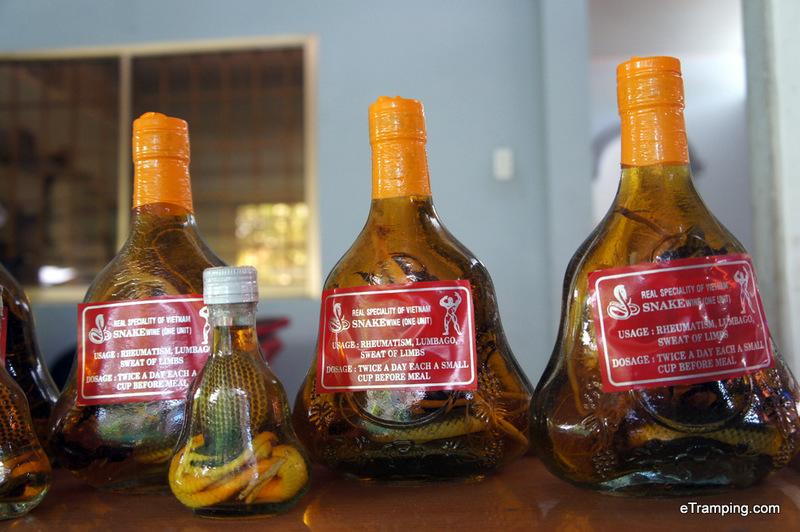 Snake wine at Mekong Delta!