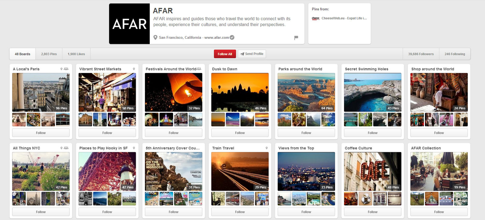 Afar on Pinterest.