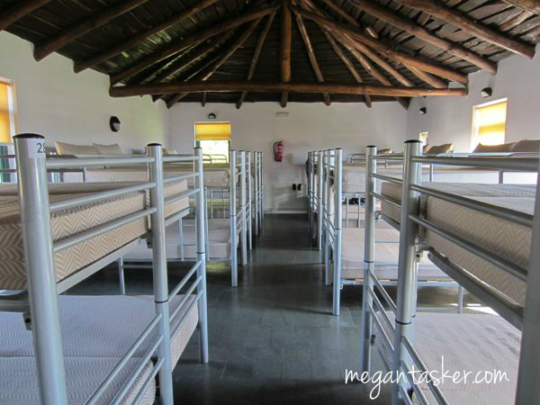Lots of space in the Albergue in early Spring!