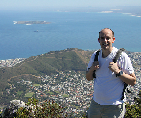 Atop Table Mountain, South Africa.