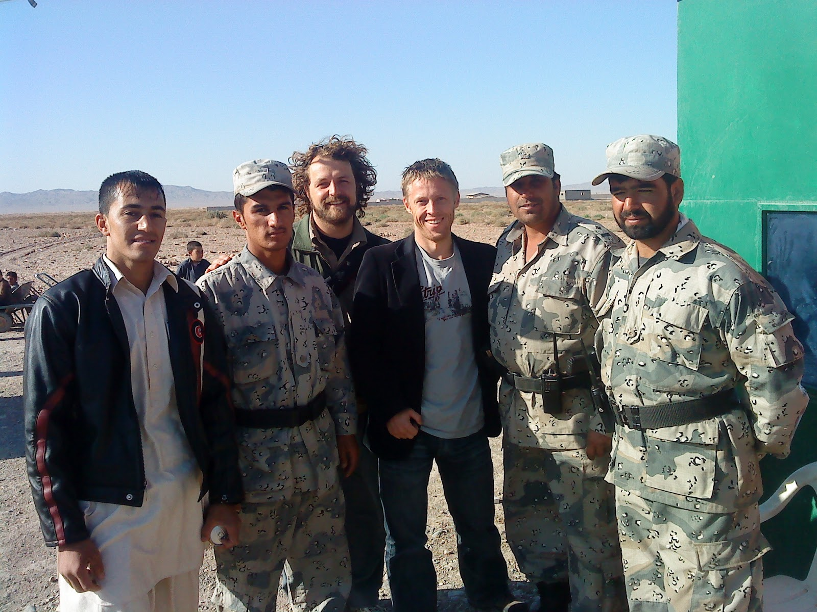 At the Afganistan/Iran border.