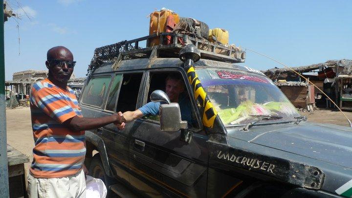 Traveling through Somalia.