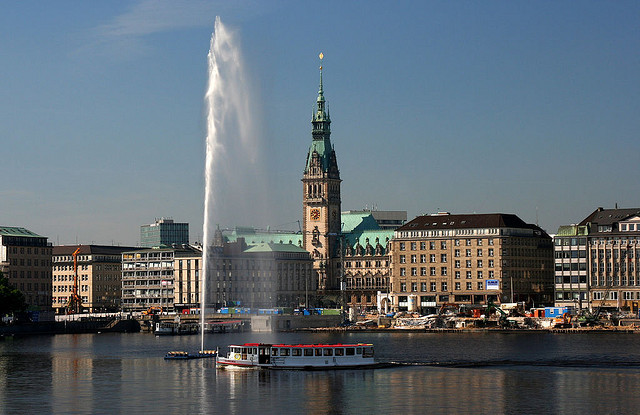 Hamburg - a beautiful harbor town.