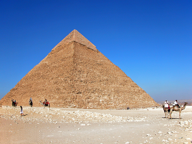 Egypt - the Pyramid of Khrfae. Photo CC by