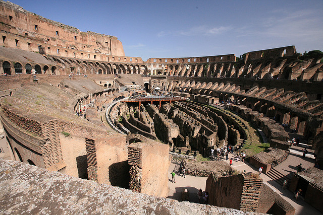 Inside the Colosseum. Photo CC by