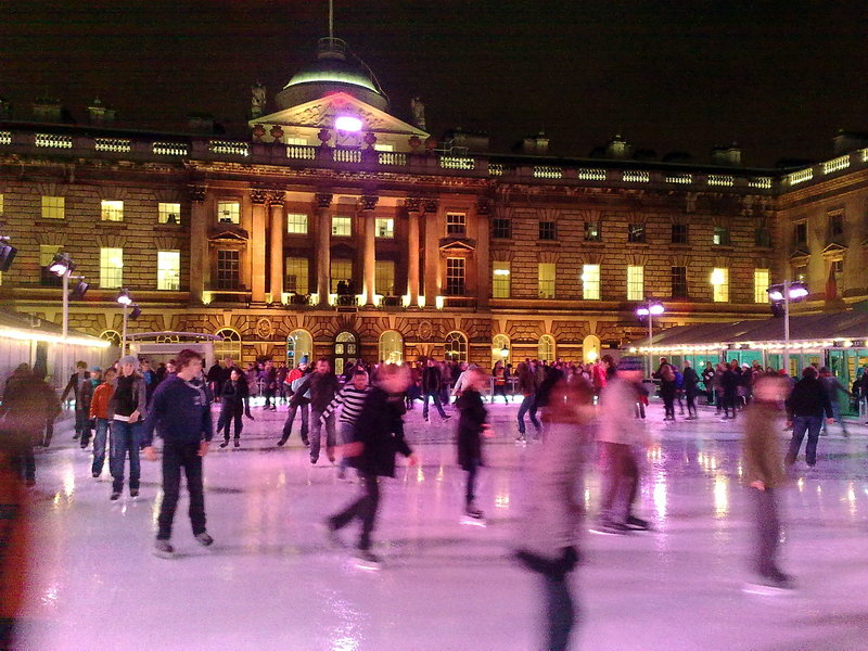 Iceskating at Somerset house. Photo by fsse8info