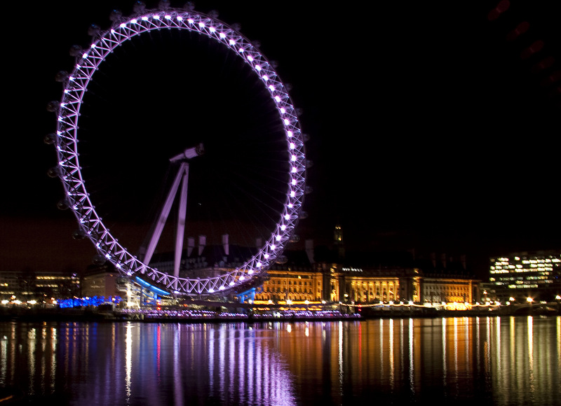 London Eye on Christmas night.