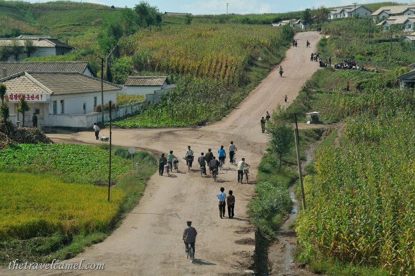 A rural setting, North Korea.