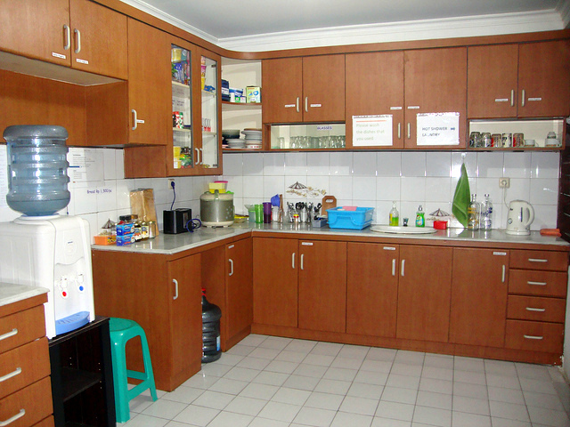 Many hostels have a free food shelf.