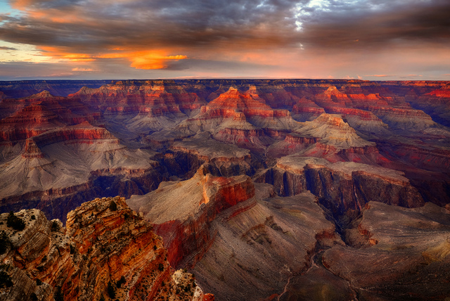 The Southern Rim is the most popular and most developed part of the Canyon.