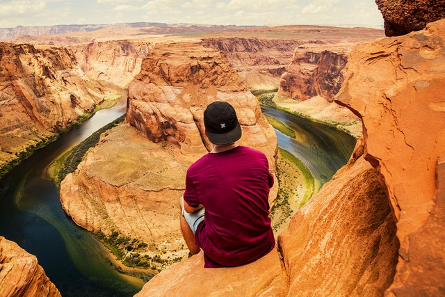 Horseshoe Bend at the very Eastern Rim is an area of the Canyon is quickly growing in popularity