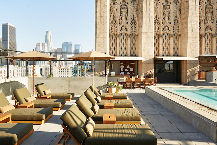 Roof Top Pool Ace Hotel Downtown La