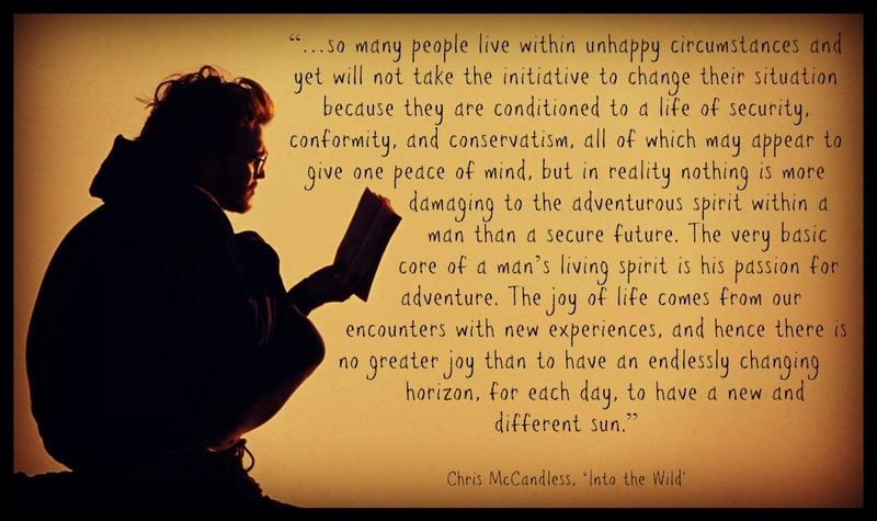Quote from Into the Wild.