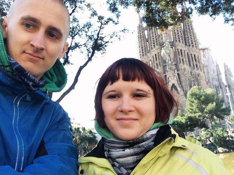 Kaspars and Una from Latvia.