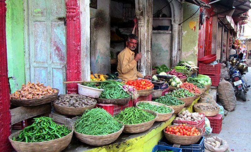 India street market.