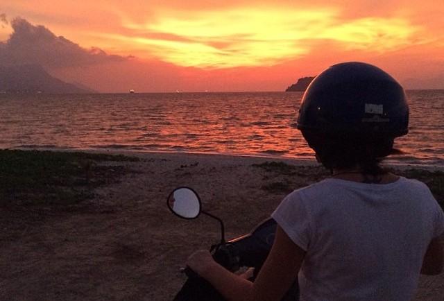 Langkawi beach sunset, Malaysia.