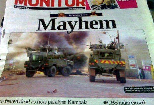 Uganda, 2009 during the Kayunga riots