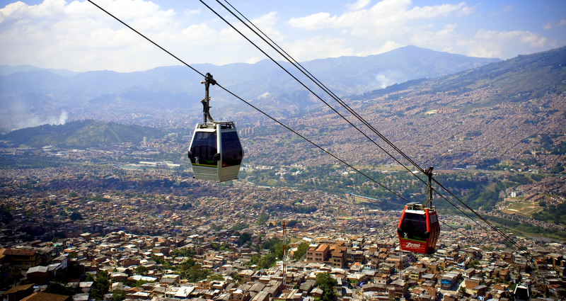 If you ever visit Medellin take a cable car ride to Arvi, which is located at the top of the hill.