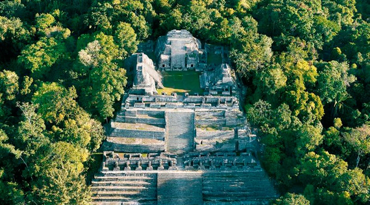 Caracol is the largest Mayan ruin site in Belize, covering about 75 square miles. It is home to the largest man-made structure in the country.