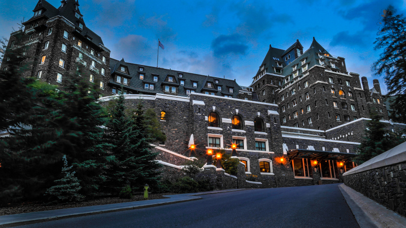 The stunning Fairmont Banff Springs hotel