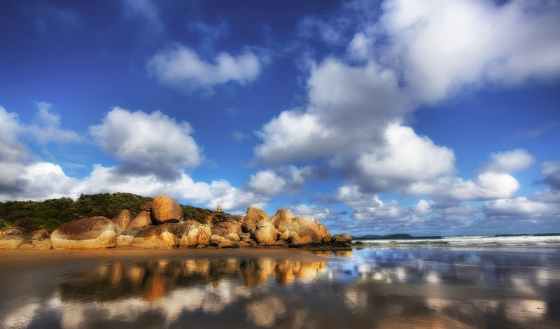 'A Shiny Beach', Australia, Wilson Promontory, Whiskey Bay
