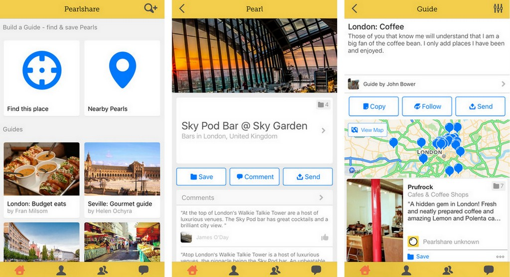 Pearlshare is a free app that allows you to easily build and share local travel guides.