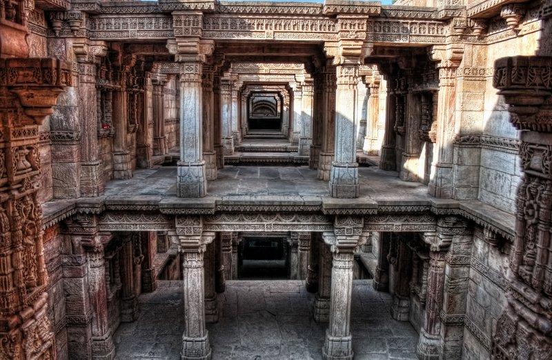 Adalaj Stepwell is a unique Hindu 'water building' in the village of Adalaj