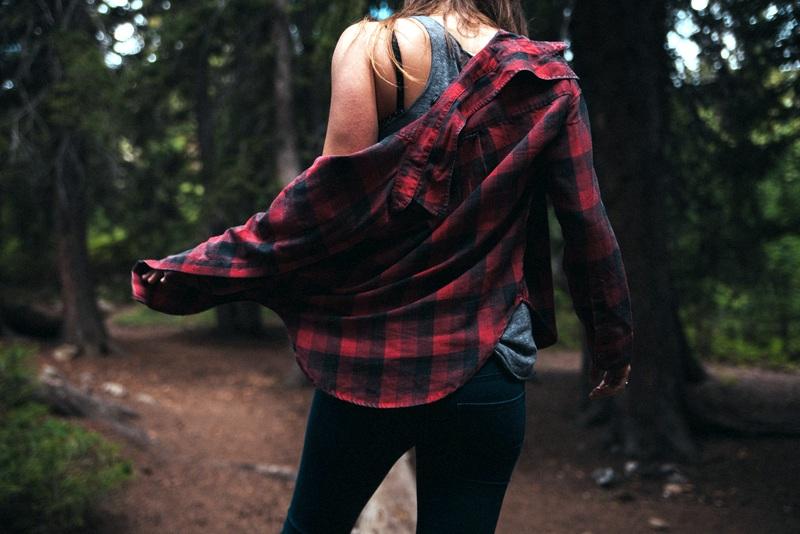 Girl travel fashion