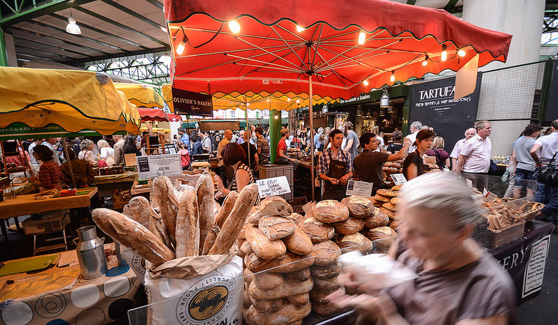 Borough market London food