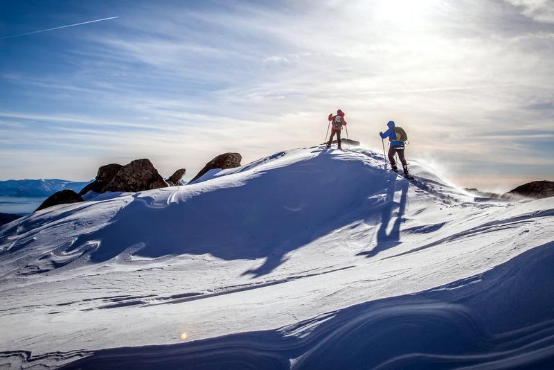 Snowshoe Herlan Peak of Lake Tahoe