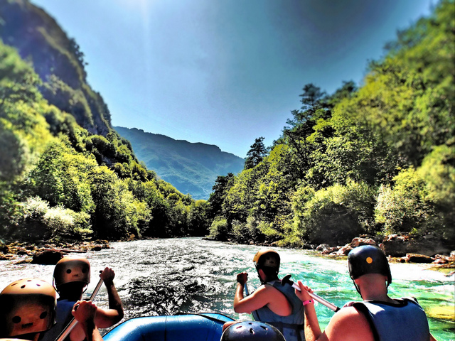 White water rafting on Tara River Canyon, Bosnia-Montenegro border