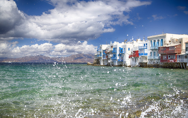 Mykonos is a beautiful white washed town
