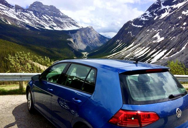 Car rental Canadian rockies