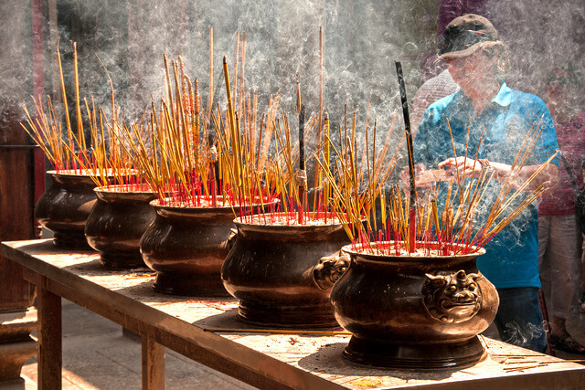 Incense at the Altar of Thiên Hâu Temple